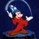 Cena de Mickey - Aprendiz de feiticeiro, em Fantasia, da Disney