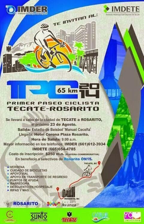 Paseo Ciclista Tecate Rosarito