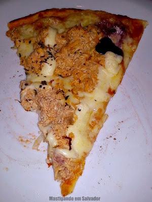 Gato Xadrez: Fatia da pizza de Frango com Catupiry