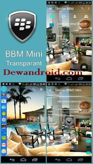 BBM Clone Mini Transparan v2.10.0.31 Size Kecil