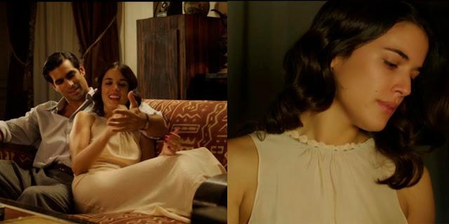 Sira Quiroga camisón largo color crema. El tiempo entre costuras. Capítulo 1.