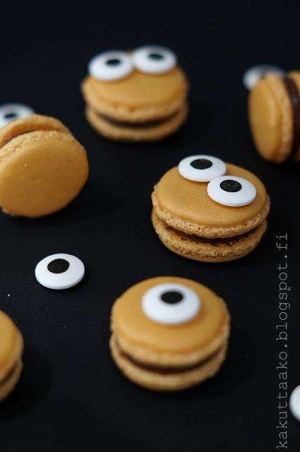 Macaronsit ja appelsiini-suklaaganache