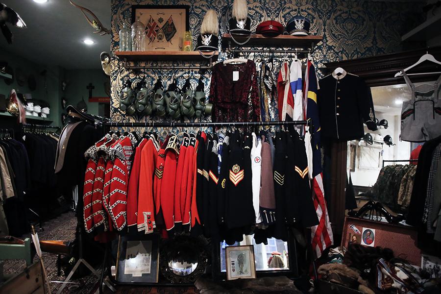 Interiors: The evolution of Regimental Vintage boutique decor
