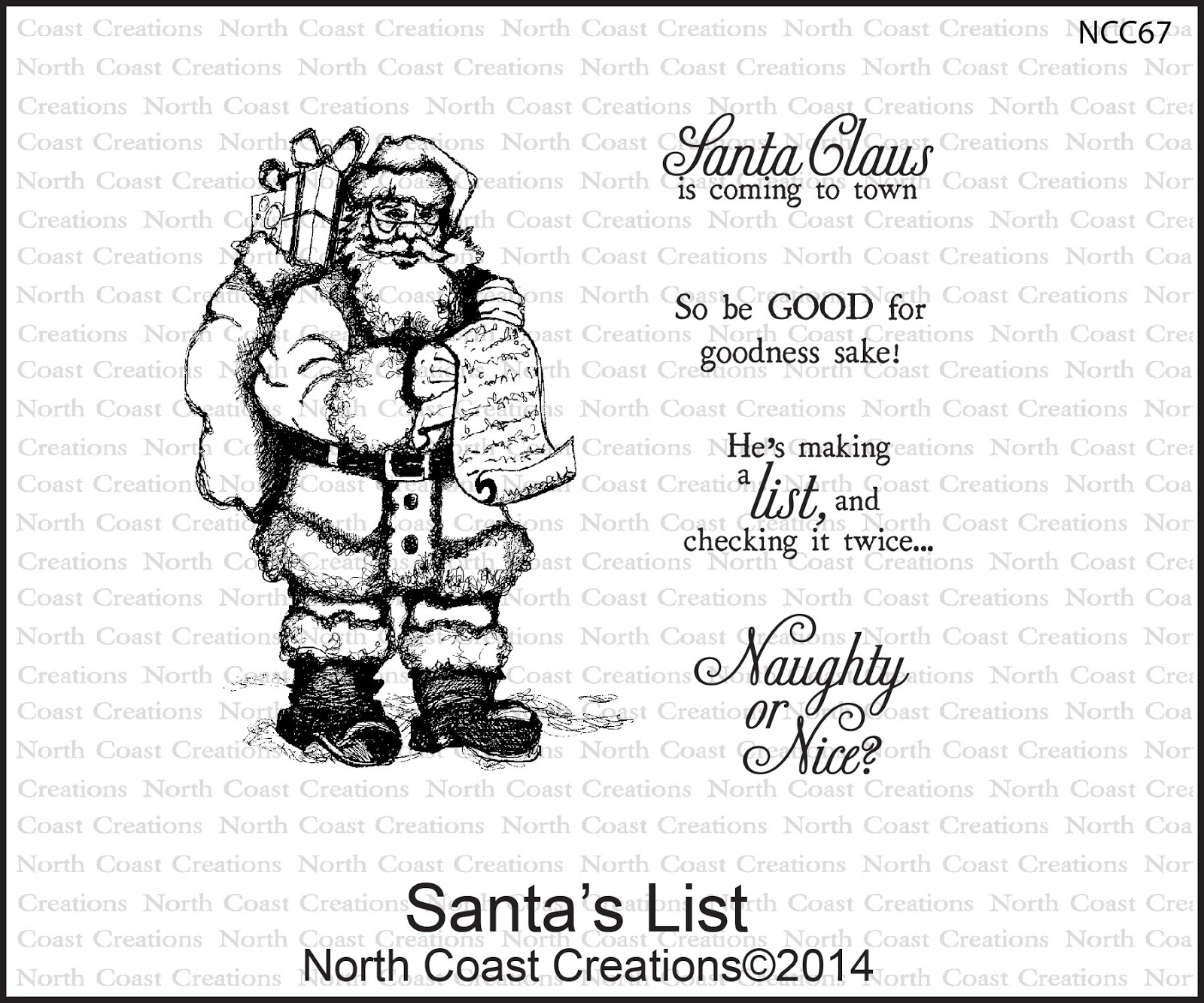 Stamps - North Coast Creations Santa's List