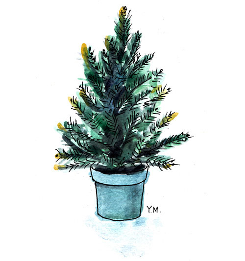 Pine tree by Yukié Matsushita