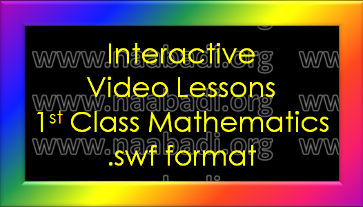 Interactive Video Lessons - 1st Class Mathematics (www.naabadi.org)