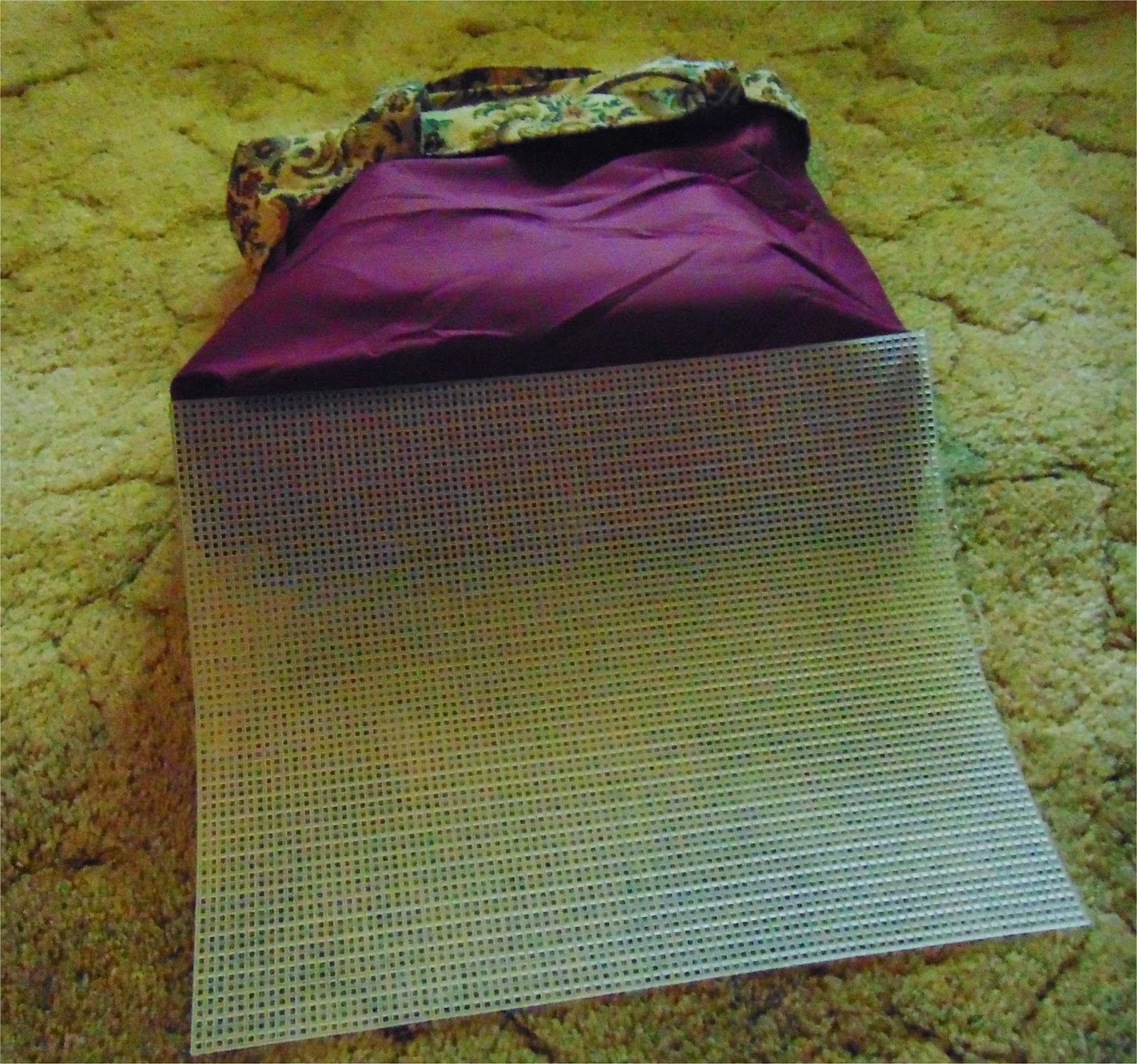 Lining of Tote Bag with Sheet of Plastic Canvas