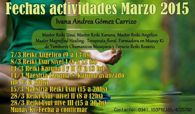 ACTIVIDADES MARZO