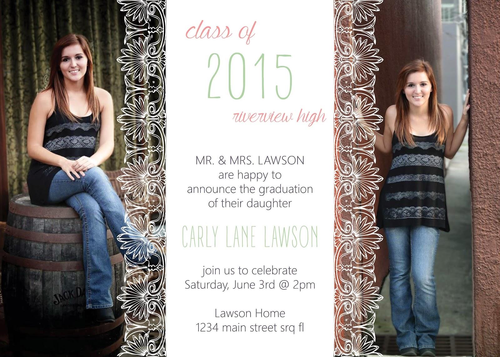 Lace Overlay Graduation Announcement / Invite