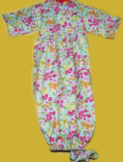 Flower Garden Baby Gown