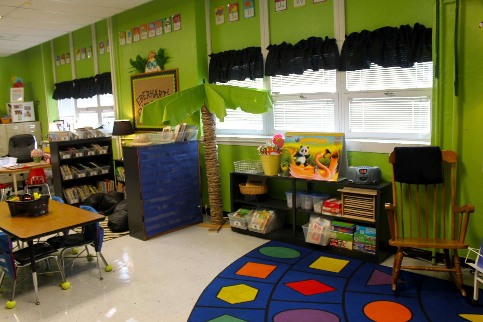 Green Classroom Decor : Eberhart s explorers think jungle lime green overload