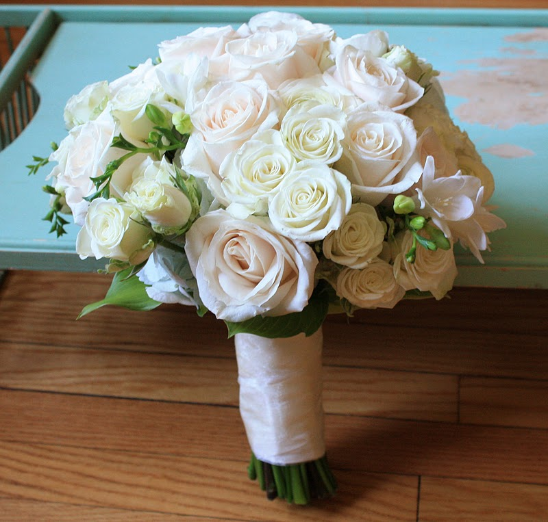 Classic Rose Bouquet, Ivory Vendela Rose Bouquet, Rose Bridal Bouquet, Rose Bouquet, Wedding Bouquet, Splendid Stems Wedding Flowers