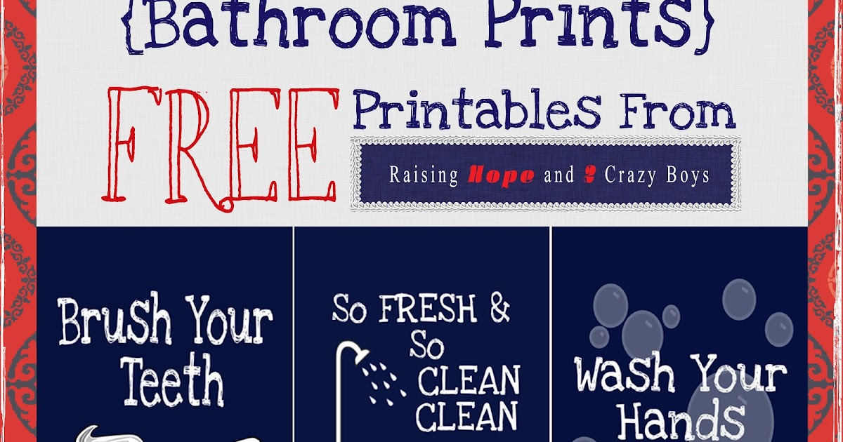 Raising Hope Bathroom Printables