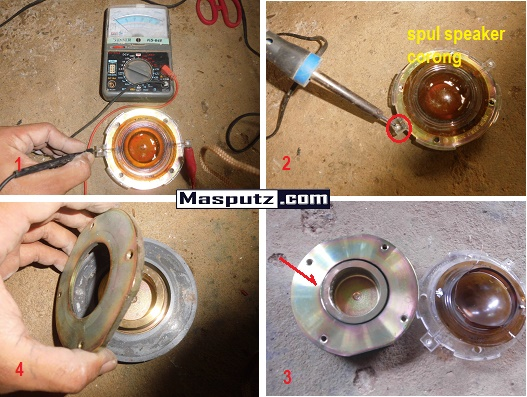 Cara memasang spul corong