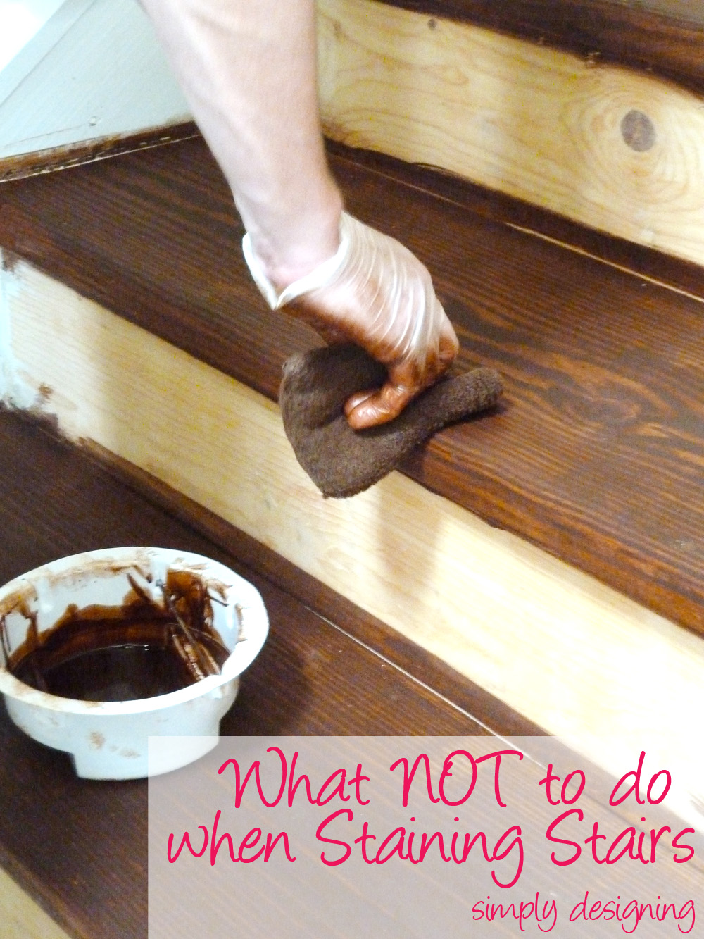 Staircase make over part 2 mistakes to avoid and how to do for Diy kitchen remodel steps
