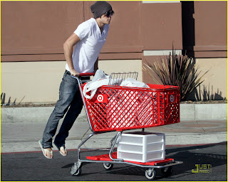 zac efron shopping at target