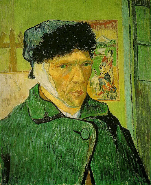 Vincent van Gogh self-portrait with bandaged ear, 1889