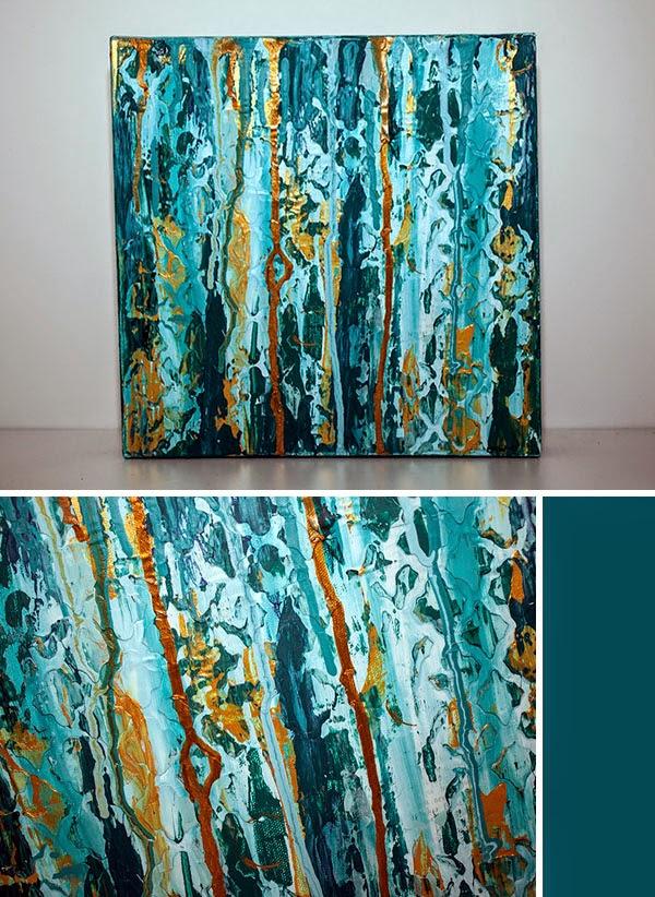 Acrylic Paint Teal Blue