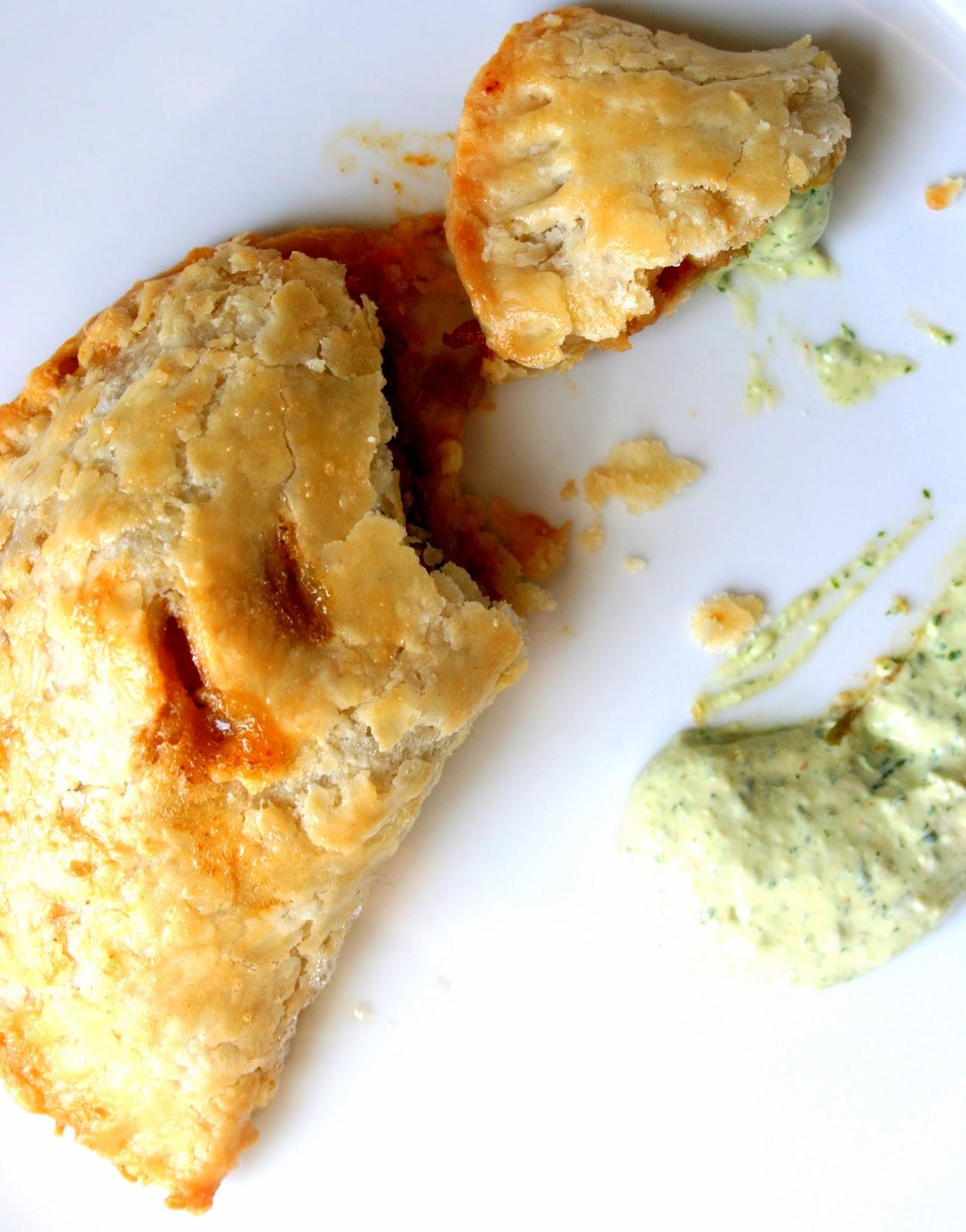 BREANNA'S RECIPE BOX: Spicy Empanadas with Cilantro Cream