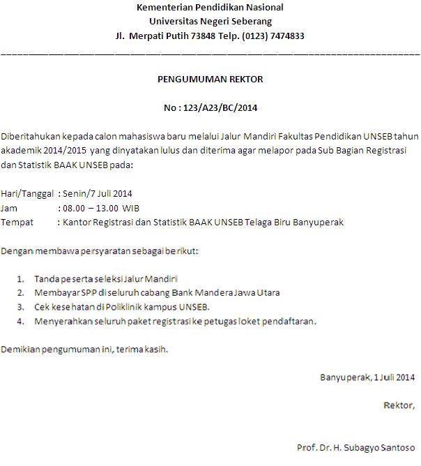 Contoh Surat Dinas Resmi Bahasa Indonesia | Indra Blog