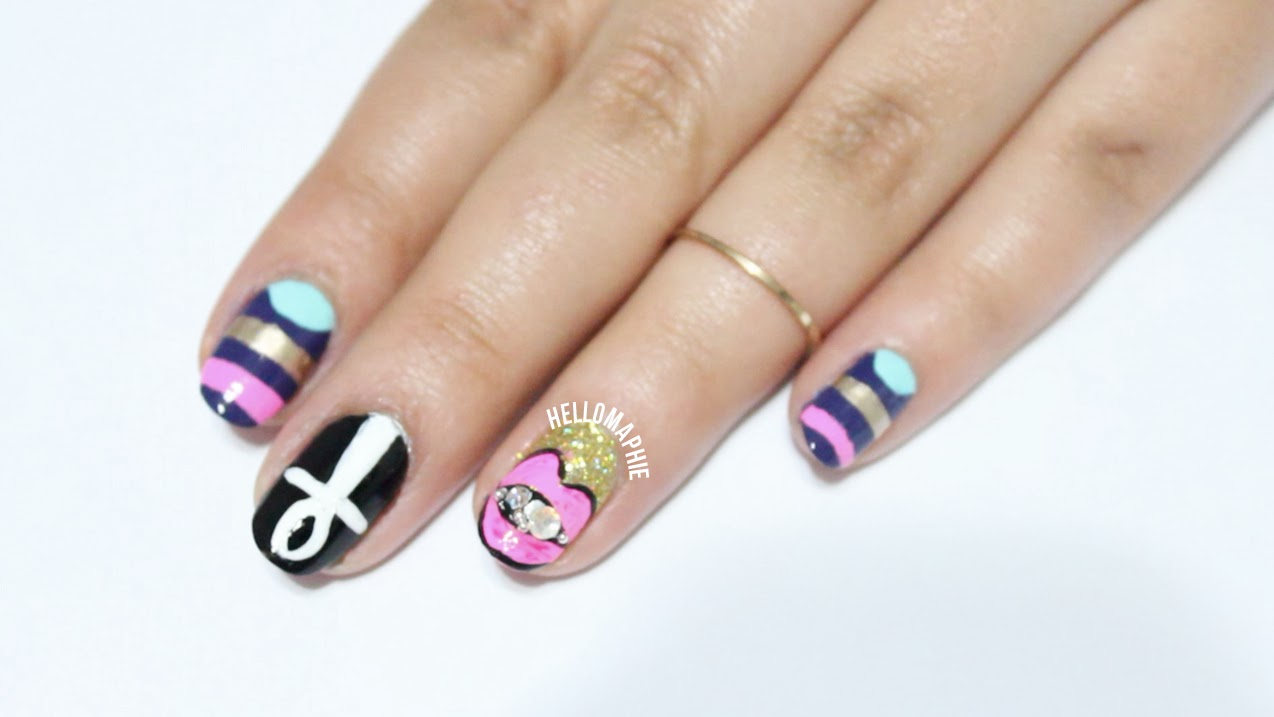 """Hellomaphie: Katy Perry """"Dark Horse"""" Inspired Nails"""