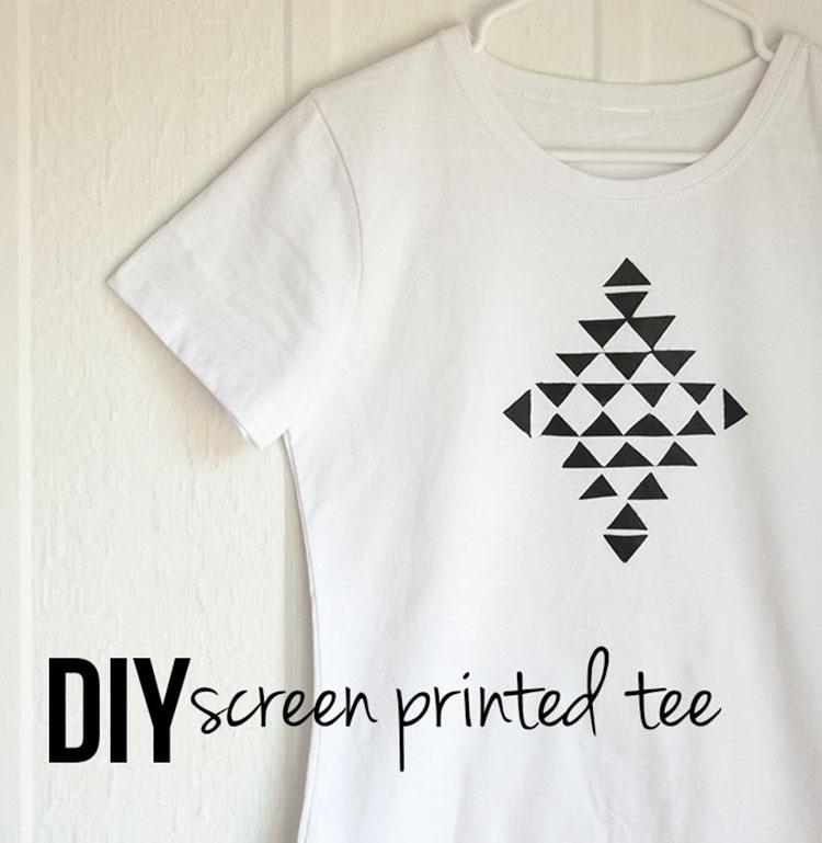 Freezer Paper Screen Print - Isn\'t that Sew