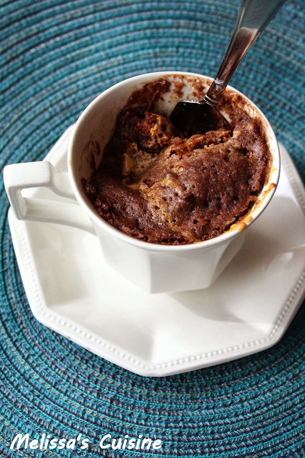 Melissa's Cuisine: Skinny Chocolate Peanut Butter Mug Cake