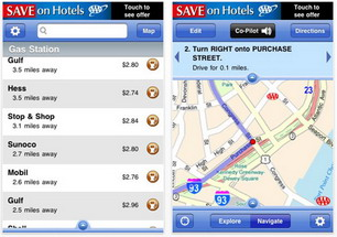 AAA TripTik Mobile iPhone App provides gasoline station locations and pricing