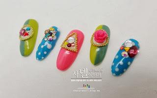Korean jewelry with stones