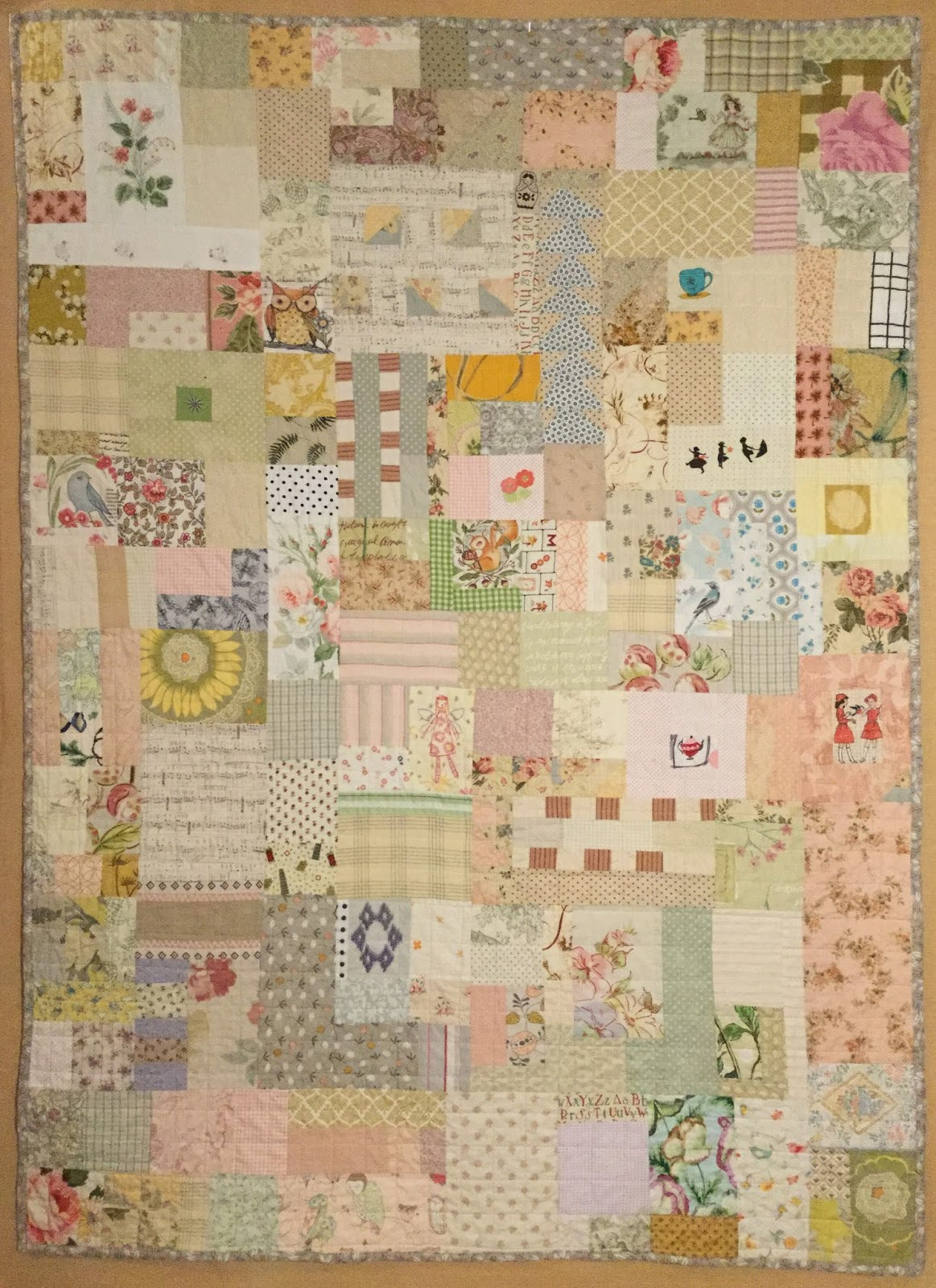 Birds Of The Air Quilts A Scrappy Baby Girl Quilt
