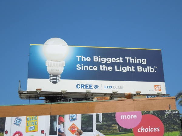 Cree light bulb billboard