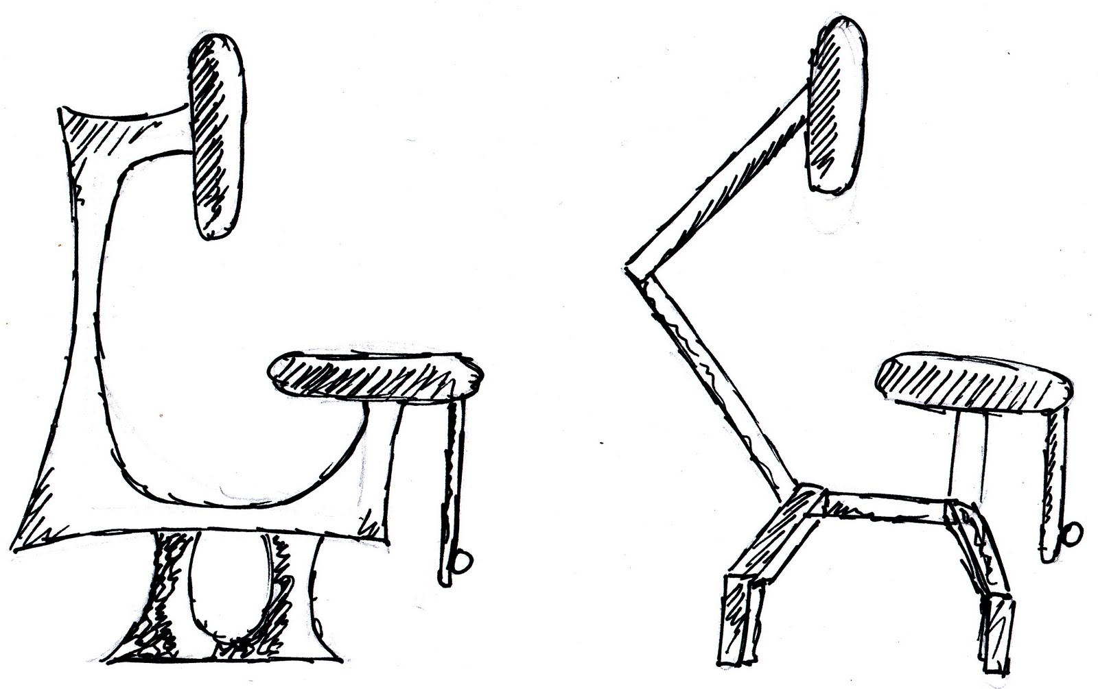 Guitar practice chair - Okay So No New Design Work Today Instead Here Are Some Development Drawings Of My As Dt Project A Guitar Practice Chair