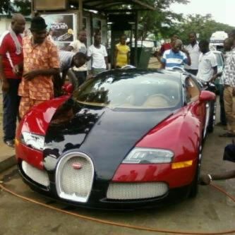 Bobby Stidings N320m Bugatti Veyron Car Spotted In Abuja