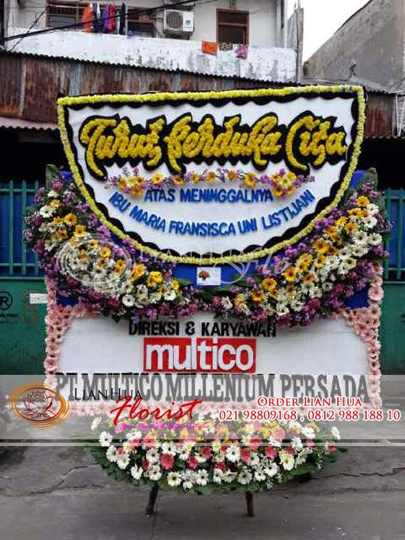 karangan Bunga papan duka cita, toko bunga di jakarta, bunga ucapan untuk orang yang sudah meninggal, toko bunga dekat rumah duka