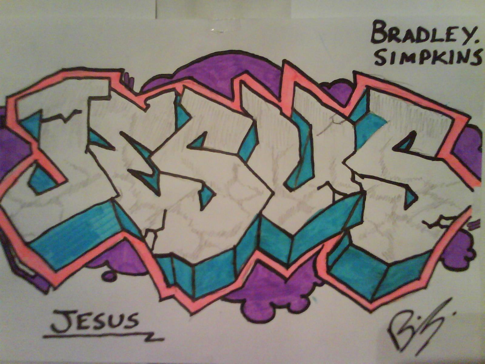 Nuevos graffitis de Jesús