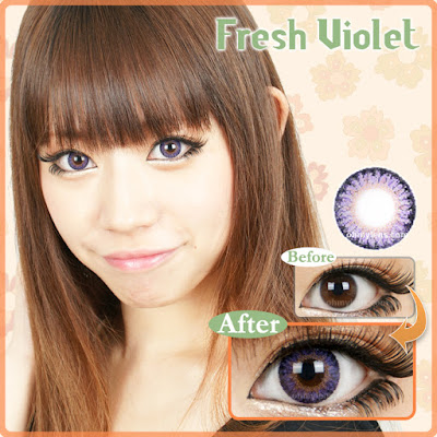 Fresh Violet Contact Lenses at ohmylens.com