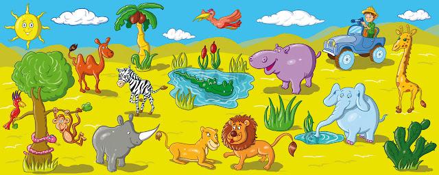 naklejki safari