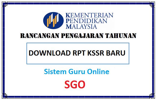 RPT TAHUN 1 KSSR  RPT Matematik (SK) Tahun 1