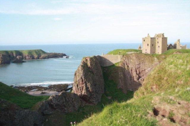 Castillo Dunnottar Castle cerca de Aberdeen