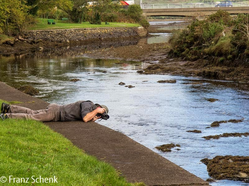 Photorapher at the Fertha river, Caherciveen, County Kerry