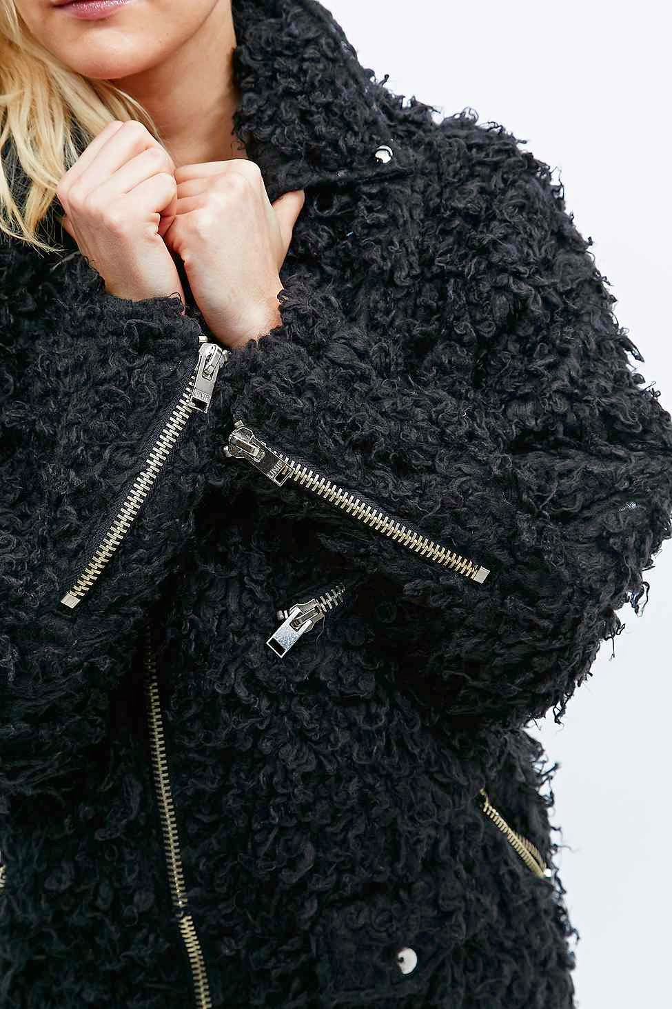 black poodle fur coat