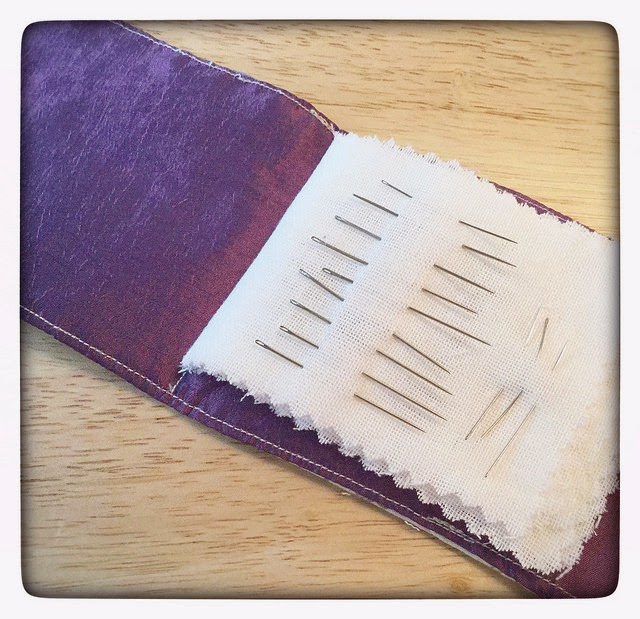 Patchwork Needle Case inside
