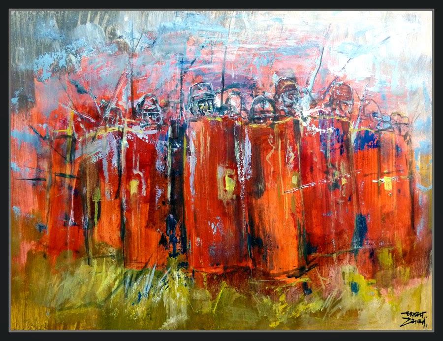 LEGIONES ROMANAS-PINTURA-LEGIONARIOS-ROMANOS-ARTE-TORTUGA-SOLDADOS-GUERRA-HISTORIA-PINTOR-ERNEST DESCALS-