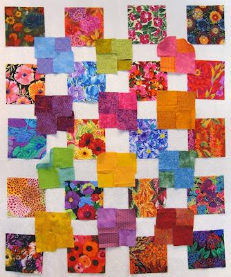 Robin Atkins, shimmer quilt, tentative layout