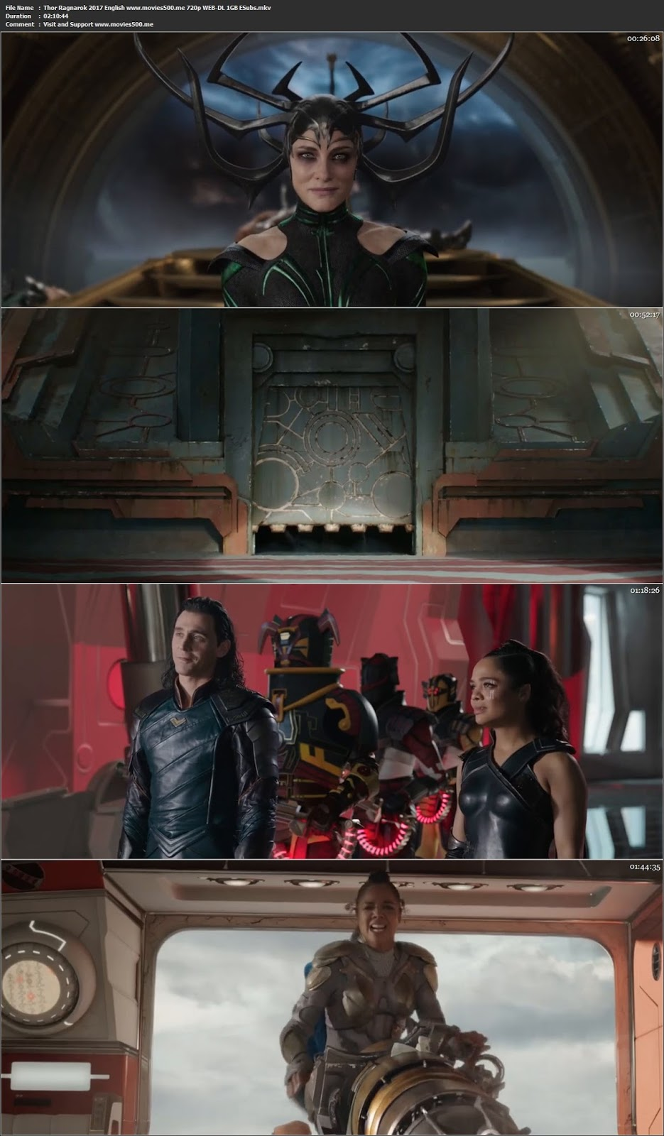 Thor Ragnarok 2017 Dual Audio Hind Movie WEB DL 720p 1GB at createkits.com