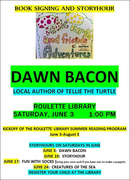 6-3 Book Signing & Storyhour With Dawn Bacon