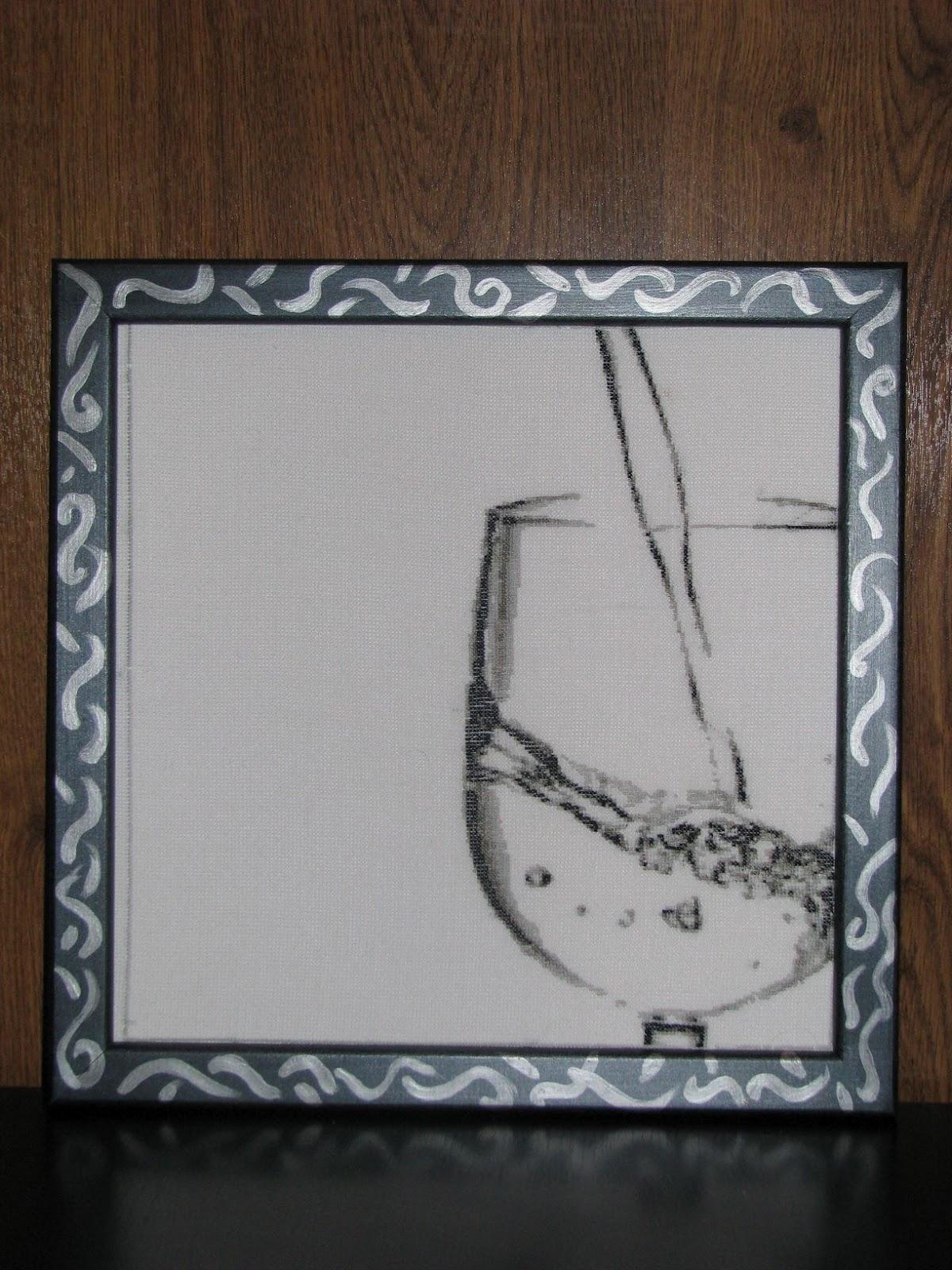 Вышивка для кухни монохромная