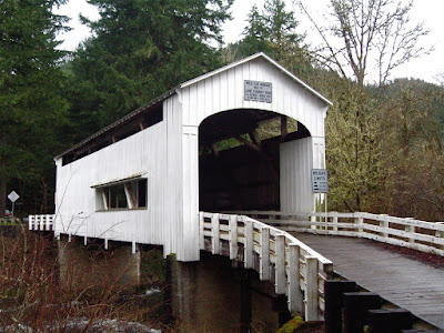 Covered Bridge, Lane County, Oregon, Coast Range