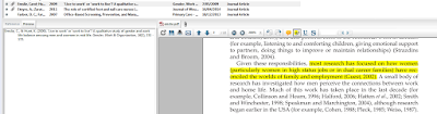 EndNote software in use