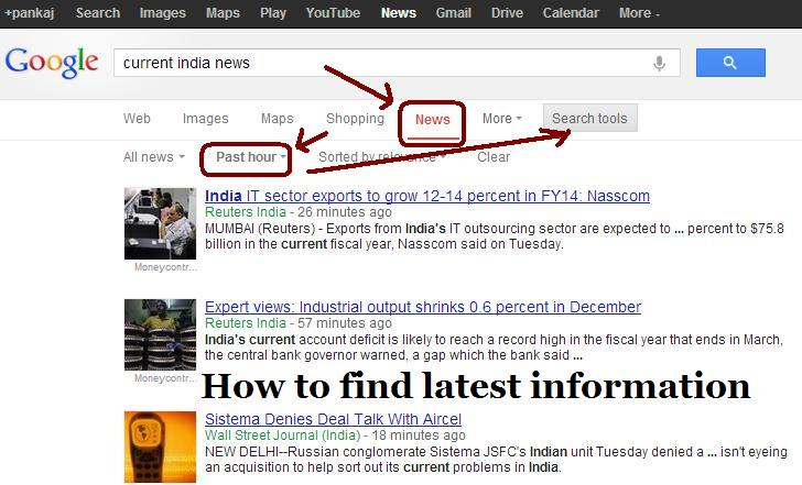 How to find latest information
